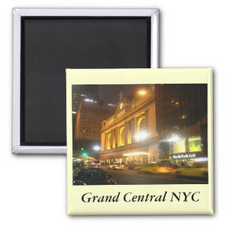 Grand Central Station, NYC Square Magnet