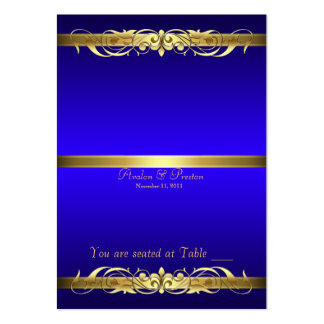 Grand Duchess Blue Gold Scroll Table Placecard Pack Of Chubby Business Cards