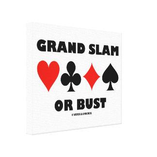 Grand Slam Or Bust Bridge Four Card Suits Gallery Wrap Canvas