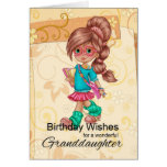 Granddaughter Cute And Trendy Birthday Greetings Greeting Card