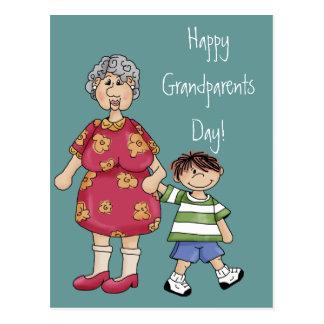 Grandma & Grandson (Grandparent Designs) Postcard