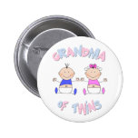 Grandma of Twins 6 Cm Round Badge