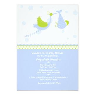 Grandma's First (Blue) Baby Shower Invitation