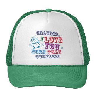 Grandpa I Love You More Than Cookies! Cap