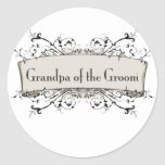 *Grandpa Of the Groom Round Sticker