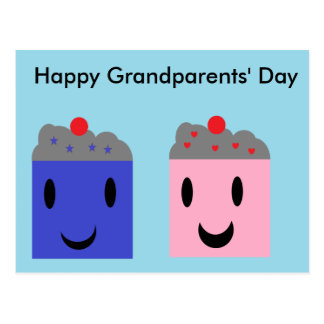 Grandparent Cupcakes Postcard