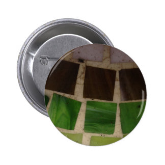 Granite Square Pattern 6 Cm Round Badge