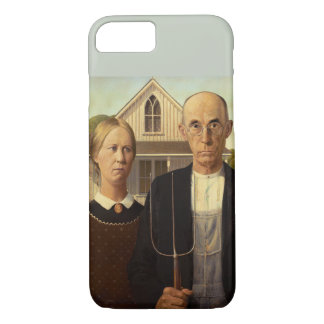 Grant Wood American Gothic Fine Art Painting iPhone 7 Case