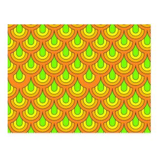 graphic 70s pattern postcard