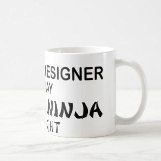 Graphic Designer Deadly Ninja Basic White Mug