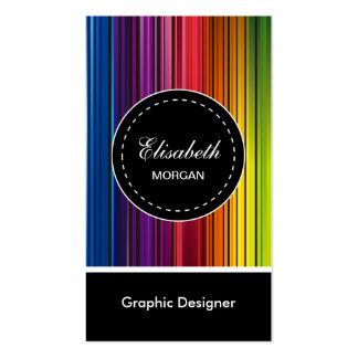 Graphic Designer - Modern Colorful Stripes Pack Of Standard Business Cards