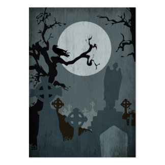 Graveyard and Full Moon for Halloween Pack Of Chubby Business Cards