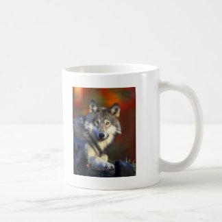 Gray Wolf, Endangered Species Digital Photography Basic White Mug