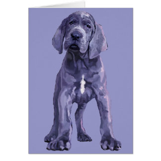 "Great Dane ""Big Baby"" Puppy Note Card"