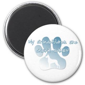 Great Dane Grandchildren 6 Cm Round Magnet