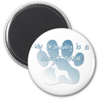 Great Dane Granddog 6 Cm Round Magnet