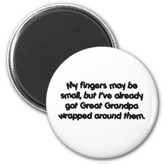 Great Grandpa's Wrapped (Black) 6 Cm Round Magnet