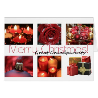great grandparents  red, black & white Winter Greeting Card