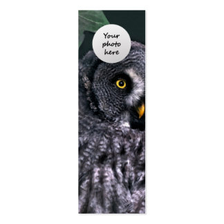 Great Grey Owl Custom Bookmark Pack Of Skinny Business Cards