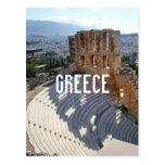 Greece Athens Theatre Ruins Postcard