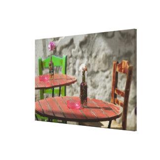 GREECE, CRETE, Hania Province, Hania: Colorful Gallery Wrap Canvas