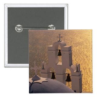Greece, Cyclades Islands, Santorini, Thira, 15 Cm Square Badge