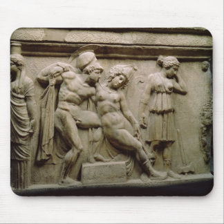 Greek Sarcophagus with a Scene showing the Battle Mouse Pad