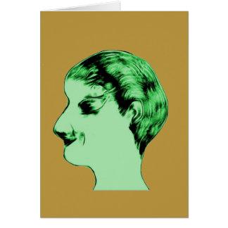 Green Alien Male Note Card