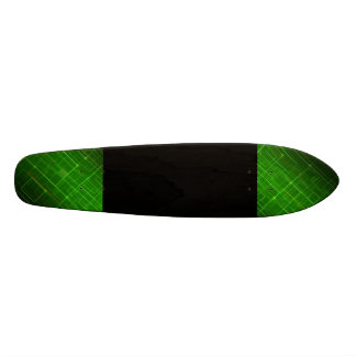 Green and black skate boards