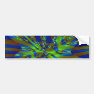 Green and Blue Colorful Abstract Stripes Pattern Bumper Sticker