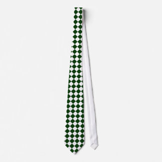 Green and White Checkered Tie