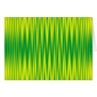Green and Yellow Zig Zag Greeting Card