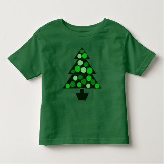 Green Baubles Christmas Tree - Toddler T-shirt