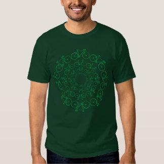 green bicycles bike-stamp t-shirts