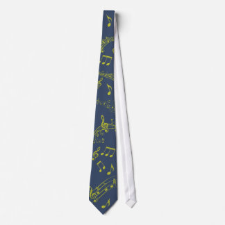 Green Blue Musical Notes Tie
