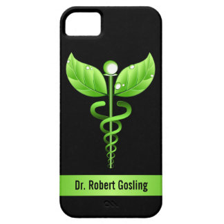 Green Caduceus Holistic Health Symbol Barely There iPhone 5 Case