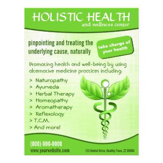 Green Caduceus Symbol Holistic Health Vertical 21.5 Cm X 28 Cm Flyer