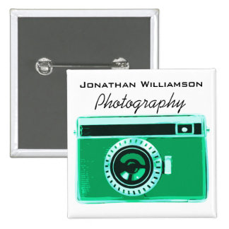 Green Camera Photography Business 15 Cm Square Badge