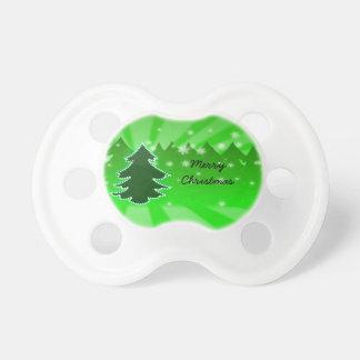Green Christmas Tree Pacifier