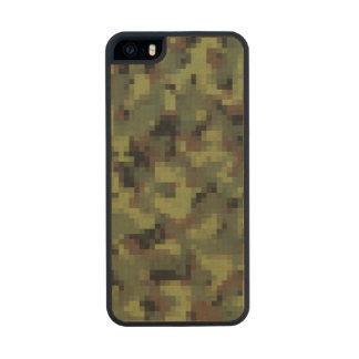 Green Digital Military Camo Wood iPhone SE/5/5s Case