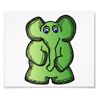 Green Elephant Art Photo