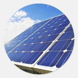 Green Energy Solar Power Round Sticker