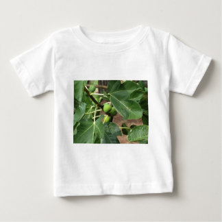 Green figs ripening on a fig tree shirt