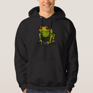Green frog hooded pullovers