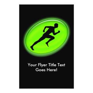 Green Glow Fitness Logo 14 Cm X 21.5 Cm Flyer