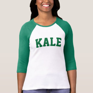 Green KALE University Bella 3/4 Sleeve Raglan Tee