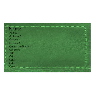 Green Leather Look Designer COWBOYS Pack Of Standard Business Cards