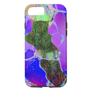 Green Lilac Tough Style iPhone 7 cover