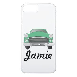 Green Mean Retro Car Boy's Birthday iPhone 7 Plus Case
