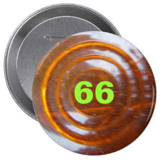 Green Number Template 10 Cm Round Badge